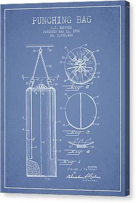 1958 Punching Bag Patent Spbx14_lb Canvas Print by Aged Pixel