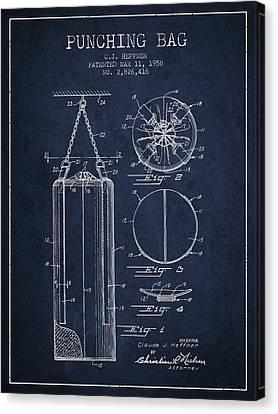 1958 Punching Bag Patent Spbx14_nb Canvas Print by Aged Pixel
