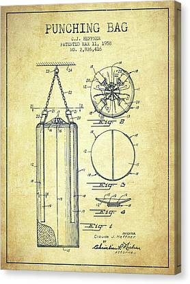 1958 Punching Bag Patent Spbx14_vn Canvas Print by Aged Pixel