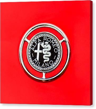 1959 Alfa-romeo Giulietta Sprint Emblem Canvas Print by Jill Reger