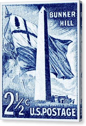 1959 Bunker Hill Stamp Canvas Print by Historic Image