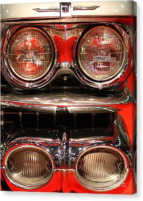 1959 Cadillac Convertible . Front Headlight Cluster Canvas Print