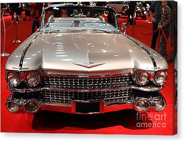 1959 Cadillac Convertible . Front View Canvas Print by Wingsdomain Art and Photography