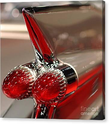 1959 Cadillac Convertible . Wing View Closeup1959 .square Canvas Print