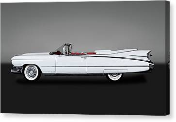 1959 Cadillac Eldorado Biarritz Convertible  -  59caddyeldoradogry171882 Canvas Print