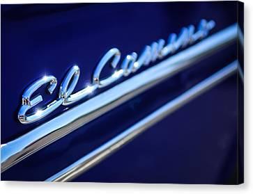 1959 Chevrolet El Camino Emblem -0008c Canvas Print by Jill Reger