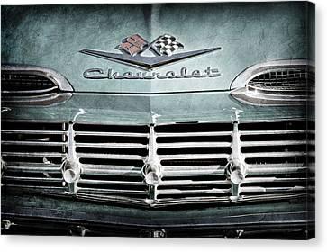 1959 Chevrolet Impala Grille Emblem -1014ac Canvas Print by Jill Reger