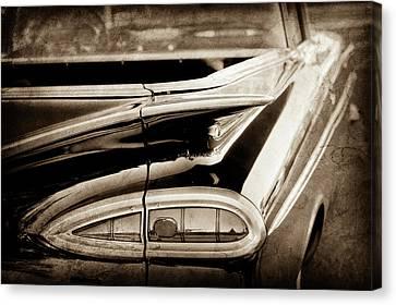 1959 Chevrolet Impala Taillight -0418s Canvas Print by Jill Reger