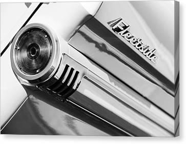 1959 Chevrolet Napco Fleetside Tail Light Emblem -1564bw Canvas Print by Jill Reger