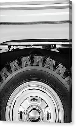 1959 Chevrolet Napco Fleetside Wheel -1583bw Canvas Print by Jill Reger