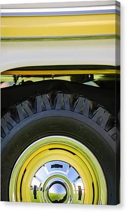1959 Chevrolet Napco Fleetside Wheel -1583c Canvas Print by Jill Reger