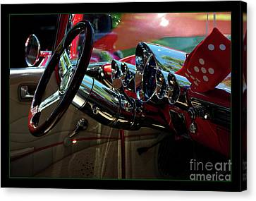 1959 Chevy El Camino Dash Canvas Print by Peter Piatt