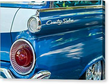 Fifties Automobile Canvas Print - 1959 Ford Country Sedan Tail Light by Jill Reger