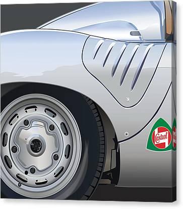1959 Porsche Rsk Canvas Print by Alain Jamar
