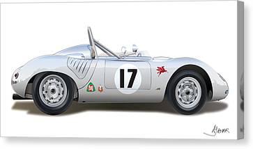 1959 Porsche Type 718 Rsk Spyder Canvas Print