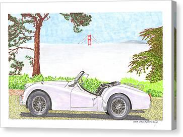 1959 Triumph T R 3 Canvas Print by Jack Pumphrey