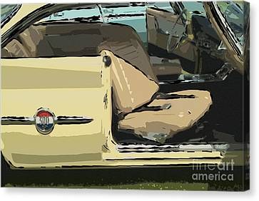 Canvas Print featuring the photograph 1960 Chrysler 300-f  Muscle Car by David Zanzinger