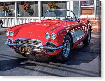 1960 Corvette Canvas Print by Guy Whiteley