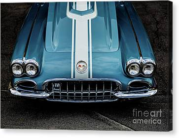 Canvas Print featuring the photograph 1960 Corvette by M G Whittingham
