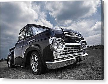 1960 Ford F100 Truck Canvas Print by Gill Billington