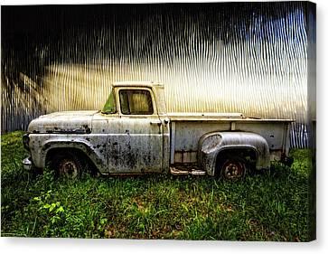 1960 Ford Pickup Truck Canvas Print by Debra and Dave Vanderlaan