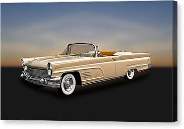 1960 Lincoln Continental Mark V Convertible   -   60licmkv300 Canvas Print by Frank J Benz