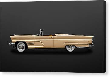 1960 Lincoln Continental Mark V Convertible  -  60linblk1000 Canvas Print by Frank J Benz