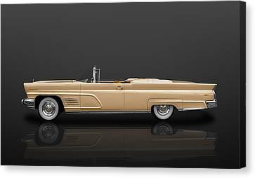 1960 Lincoln Continental Mark V Convertible  -  60linblkrfl900 Canvas Print by Frank J Benz