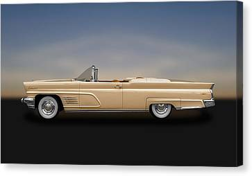 1960 Lincoln Continental Mark V Convertible  -  60lincon800  Canvas Print by Frank J Benz