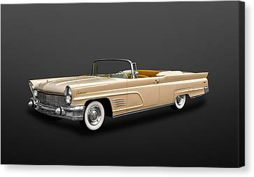 1960 Lincoln Continental Mark V Convertible  -  60lincontcv400 Canvas Print by Frank J Benz