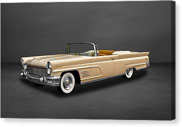 1960 Lincoln Continental Mark V Convertible  -  60linmkvcv500 Canvas Print by Frank J Benz