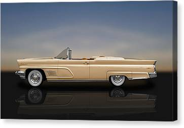 1960 Lincoln Continental Mark V Convertible  -  60linmkvrflt700 Canvas Print by Frank J Benz