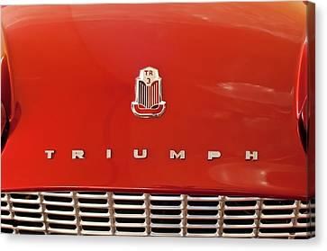 1960 Triumph Tr3 Emblem Canvas Print by Jill Reger