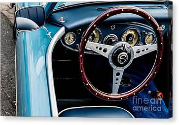 Canvas Print featuring the photograph 1961 Austin Healey 3000 by M G Whittingham