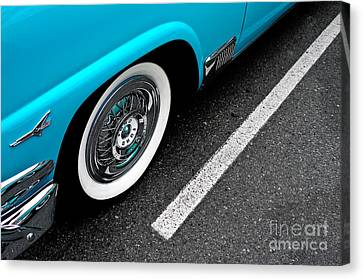 Canvas Print featuring the photograph 1958 Ford Crown Victoria by M G Whittingham