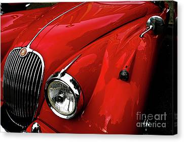Canvas Print featuring the photograph 1960s Jaguar by M G Whittingham
