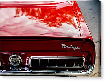 Canvas Print featuring the photograph 1967 Mustang by M G Whittingham