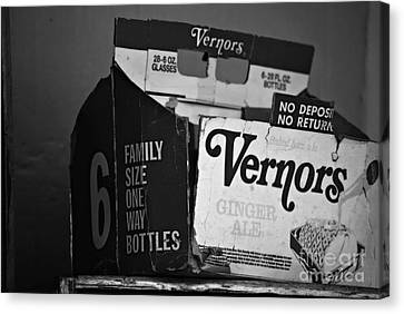 1960's Vernors Box. No Deposit, No Rerurn  Canvas Print by Sandra Church
