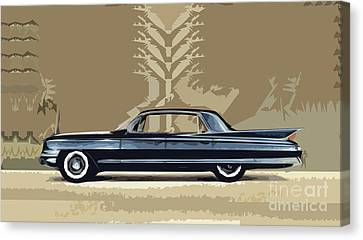 1961 Cadillac Fleetwood Sixty-special Canvas Print by Bruce Stanfield