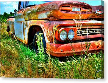 1961 Chevrolet Apache 10 5 Canvas Print by Lisa Wooten
