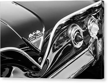 1961 Chevrolet Bel Air Impala Ss Bubble Top Tail Light Emblem -0249bw Canvas Print by Jill Reger