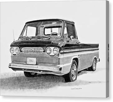 1961 Chevrolet Corvair Rampside Canvas Print by Daniel Storm