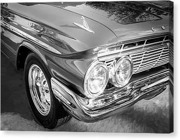1961 Chevrolet Impala Ss Bw Canvas Print by Rich Franco