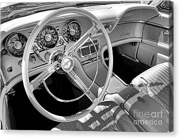 1961 Ford Thunderbird Interior  Canvas Print by Olivier Le Queinec