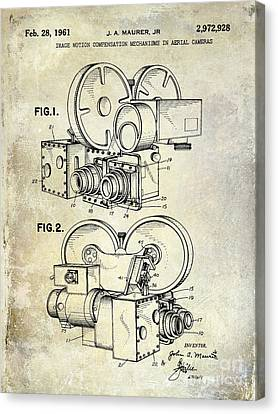 1961 Movie Camera Patent Canvas Print by Jon Neidert