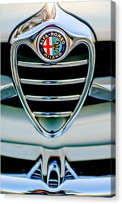 1962 Alfa Romeo Giulietta Coupe Sprint Speciale Grille Emblem Canvas Print by Jill Reger