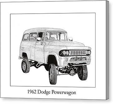 1962 Dodge Powerwagon Canvas Print by Jack Pumphrey