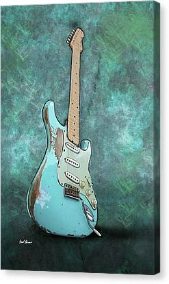 1962 Fender Stratocaster Canvas Print by Brad Burns