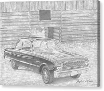 1962 Ford Falcon Classic Car Art Print Canvas Print by Stephen Rooks