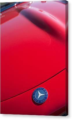 1962 Mercedes-benz 300sl Roadster Emblem -0384c Canvas Print by Jill Reger